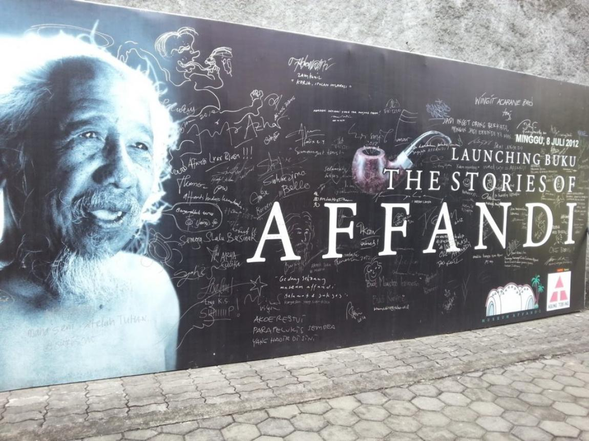 Painting Art Collection of Painting Maestro in Affandi Museum